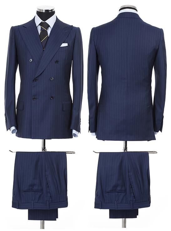 L eleganza dell abito doppiopetto e la regalità del blu gessato in questa  realizzazione tutta artigianale per momenti importanti in cui lo stile non  può ... bbaf6811f1c
